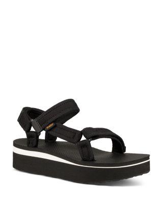 teva black platform sandals