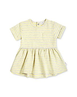 Miles Baby - Girls' Cotton-Blend Striped Dress - Baby