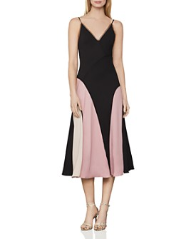 BCBGMAXAZRIA - Colorblocked Slip Dress