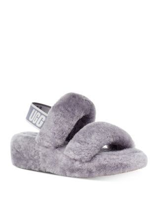 Oh Yeah Shearling Slingback Slippers