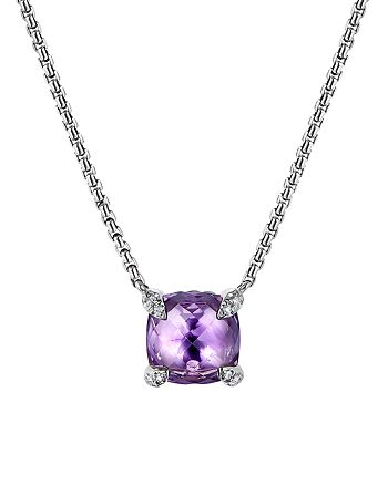 David Yurman - Châtelaine® Pendant Necklace with Amethyst and Diamonds, 18""