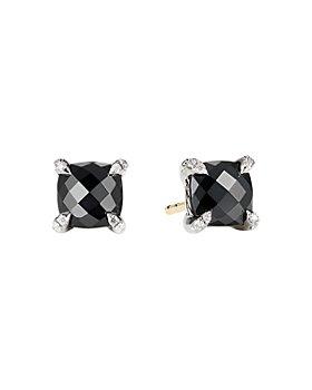 David Yurman - Châtelaine® Stud Earrings with Black Onyx and Diamonds