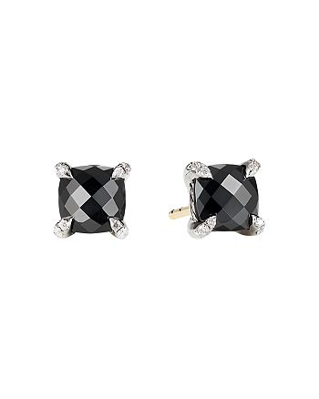 David Yurman - Châtelaine® Stud Earrings with Black Onyx and Diamonds