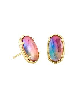 Kendra Scott - 14K Gold-Plated Grayson Watercolor Illusion Stud Earrings