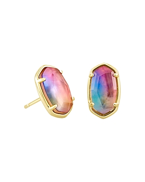 Kendra Scott 14K Gold-Plated Grayson Watercolor Illusion Stud Earrings-Jewelry & Accessories