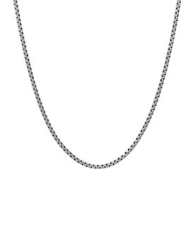 David Yurman - Sterling Silver Small Double Box Chain Necklace, 24""