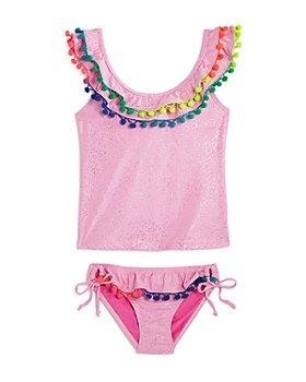 PQ Swim - Girls' Pom-Pom Two-Piece Swimsuit, Little Kid, Big Kid - 100% Exclusive