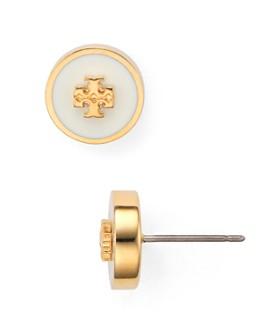 Tory Burch - Kira Enamel Circle Stud Earrings