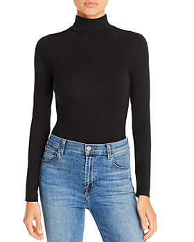 Good American - Ruched Turtleneck Bodysuit