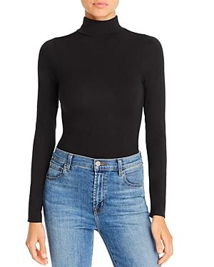 Good American Ruched Turtleneck Bodysuit-Women