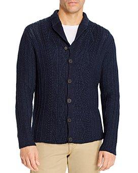 Inis Meain - Aran Program Linen & Cotton Plaited Cardigan