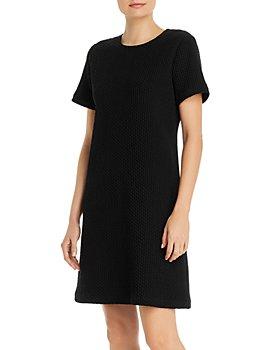 Eileen Fisher Petites - Petites Honeycomb Round-Neck Dress