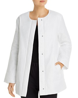 Eileen Fisher - Quilted Round-Neck Jacket