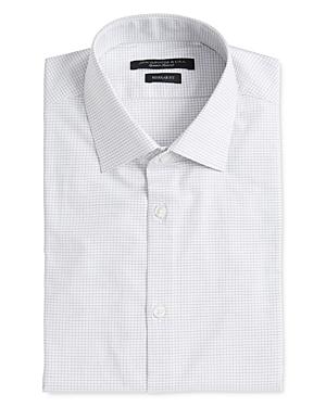 John Varvatos Star Usa Spencer Dashed-Grid Regular Fit Dress Shirt