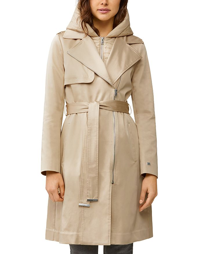 Soia & Kyo - Athie Puffer-Bib Hooded Trench Coat