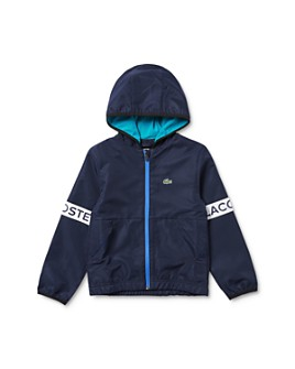 Lacoste - Boys' Blouson Taffeta Full-Zip Hooded Sports Jacket - Little Kid, Big Kid