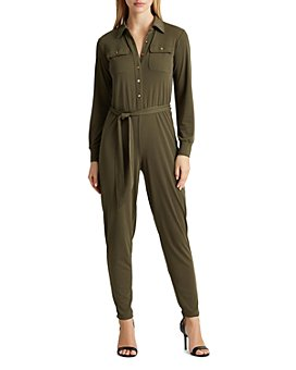 Ralph Lauren - Button-Up Tie-Waist Jumpsuit