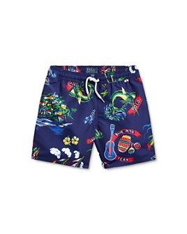 Ralph Lauren - Boys' Tropical Print Captiva Swim Trunks - Little Kid