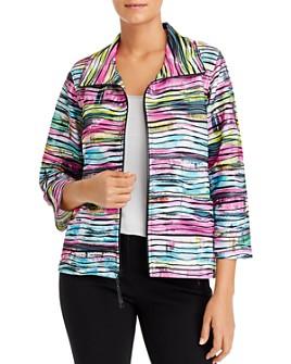 Caroline Rose - Tie-Dyed Knit Zip Jacket