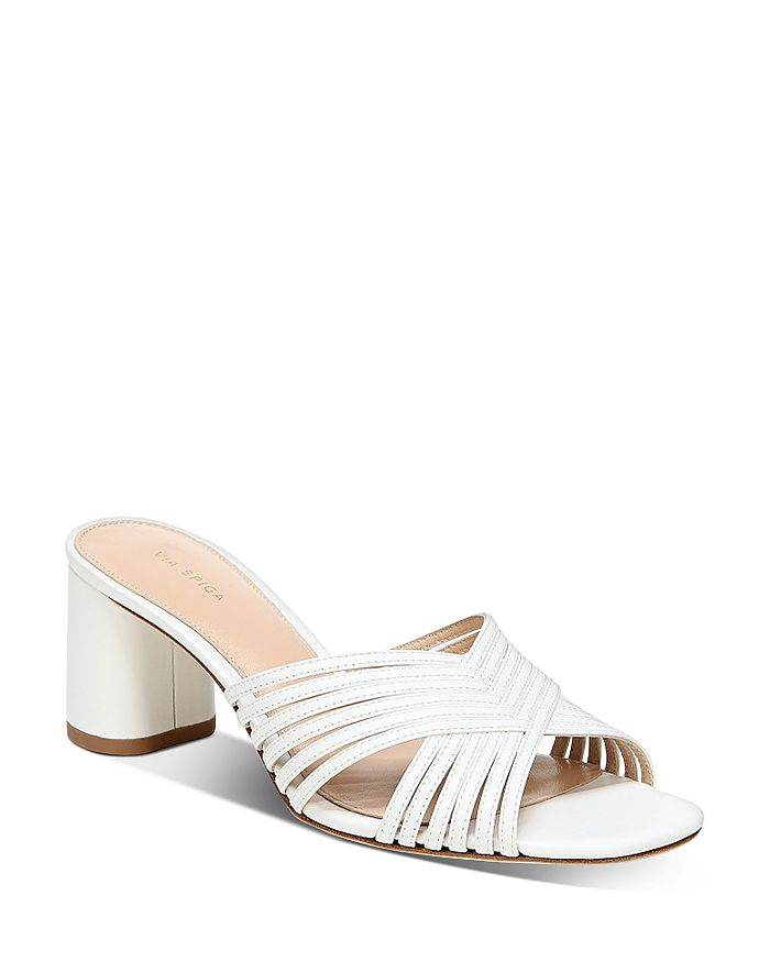 Via Spiga - Women's Rafaela Slip On High-Heel Sandals