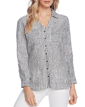 Vince Camuto Striped Linen Shirt