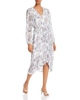 AQUA - Floral-Printed Faux-Wrap Dress - 100% Exclusive