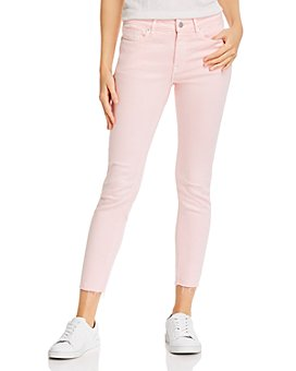 AQUA - Cropped Skinny Jeans in Light Pink - 100% Exclusive