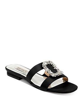 Badgley Mischka - Women's Josette Embellished Slip On Sandals
