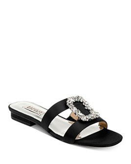 Badgley Mischka - Women's Josette Embellished Slip On Sandals