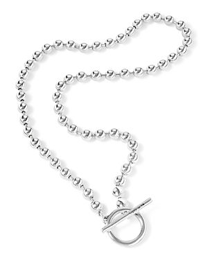 Uno de 50 Off/On Silver-Plated Ball Chain Collar Necklace, 16