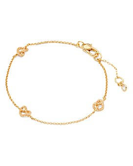 kate spade new york - Loves Me Knot Pavé Knot Chain Bracelet