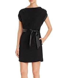 Armani - Belted Cap-Sleeve Dress