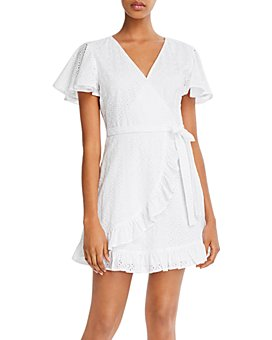 Jack by BB DAKOTA - Easy On The Eyelet Cotton Faux-Wrap Dress