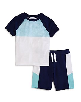 Splendid - Boys' Color-Blocked Tee & Shorts Set - Little Kid