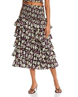 Cinq à Sept - Mira Ruffled Midi Skirt