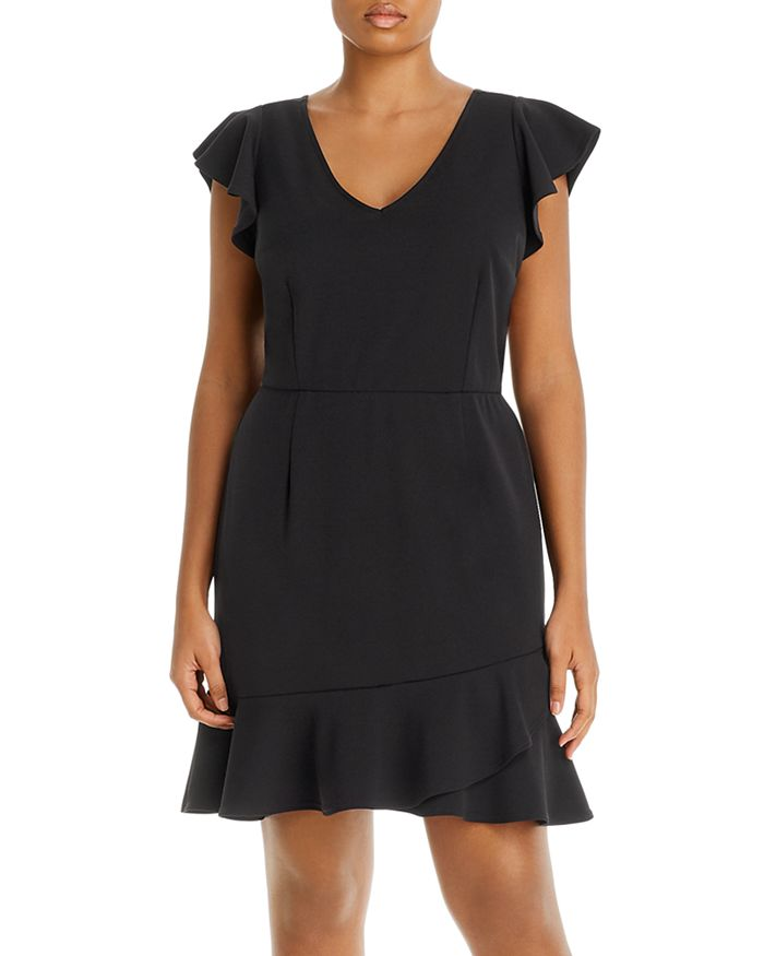 AQUA Curve - Flounce-Hem Dress - 100% Exclusive