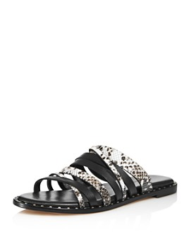 Charles David - Women's Snake-Print Source Slip On Sandals