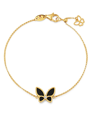 Roberto Coin 18K Yellow Gold Onyx & Diamond Butterfly Chain Bracelet - 100% Exclusive-Jewelry & Accessories