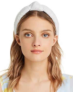 Lele Sadoughi Eyelet Knotted Headband