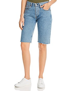 rag & bone - Rosa Cotton Denim Bermuda Shorts in Misha