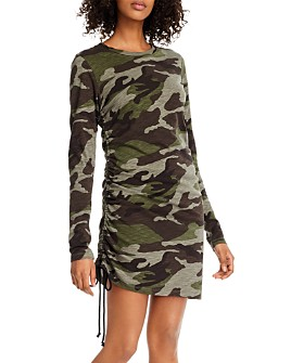 PAM & GELA - Camo-Printed Ruched Dress - 100% Exclusive