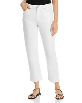 Eileen Fisher - Straight-Leg Ankle Jeans in White