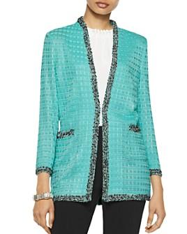 Misook - Textured Kiss-Front Jacket