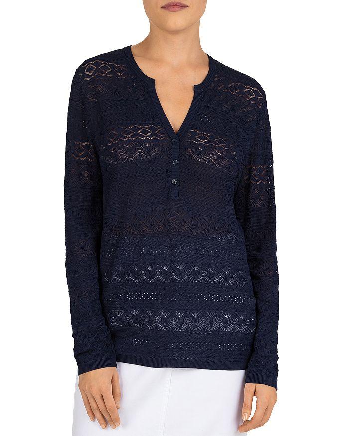 Gerard Darel Ermellina Lace Sweater In Blue