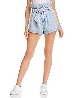 BLANKNYC - Paperbag Jean Shorts in Caribbean Blue