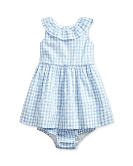 Ralph Lauren - Girls' Cotton Poplin Floral Gingham Fit-and-Flare Dress & Bloomers Set - Baby