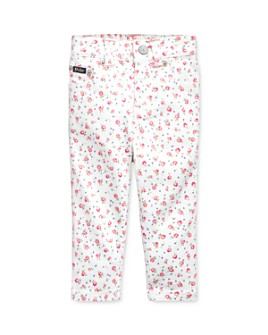 Ralph Lauren - Girls' Cotton Stretch Floral-Print Skinny Jeans - Baby