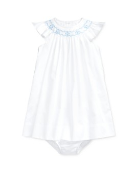 Ralph Lauren - Girls' Cotton Hand-Embroidered A-Line Dress & Bloomers Set - Baby