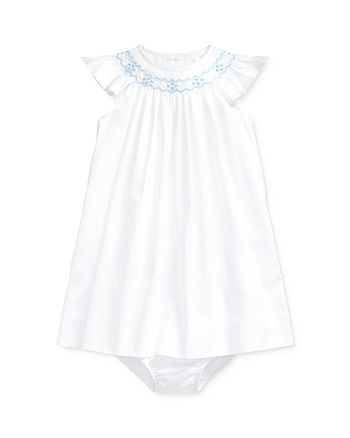 Ralph Lauren - Girls' Cotton Hand-Embroidered A-Line Dress & Bloomers Set - Baby