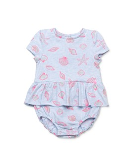 EGG new york - Girls' Maisie Seashell-Print Romper - Baby